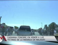 Shooting in El Paso: Funeral caravan in honor of the victims of the massacre