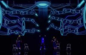 AGT - WOW! Light Balance Kids Performs Electrifying Skeleton Dance In The Dark