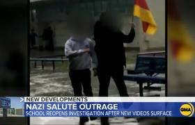 New videos show students appearing to throw Nazi salutes