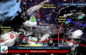 Fuertes lluvias por 'Ivo' amenazan el occidente de México