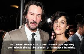 Matrix 4' with Keanu Reeves, Carrie-Ann Moss Is on the Way