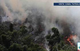 La Amazonia arde a velocidad récord