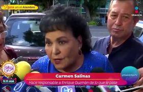 Carmen Salinas teme por las amenazas de muerte que le hizo Enrique Guzmán