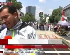 Trabajadores de CDMX cierran avenida Chapultepec