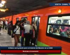 El Metro será gratuito para corredores del Maratón de la CDMX