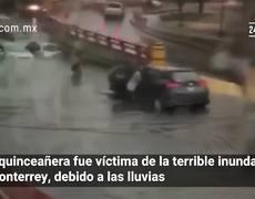 Quinceañera victima de las inundaciones de Monterrey
