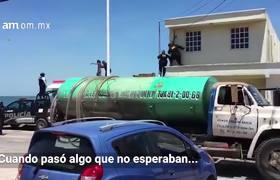 #VIDEO: Se les escapa ladrón en plena detención