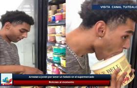 Arrestan a joven por lamer un helado en el supermercado