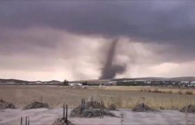 Se reporta avistamiento de tornado en Málaga España