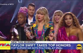 Taylor Swift gets political at the 2019 VMAs