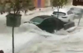 Fuertes lluvias han afectado a Madrid, #España.