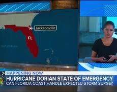 Hurricane Dorian brings threat of storm surge