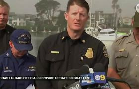 Officials provide updates on Santa Cruz Boat fire