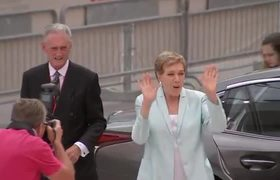 Julie Andrews arrives for Venice award