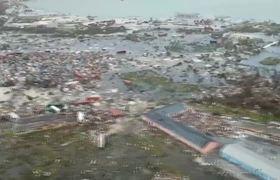 Shocking Aerial Footage Follows Hurricane Dorian's Trail of Destruction