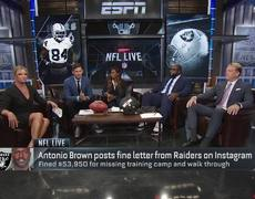 Antonio Brown responds to $54K fines from the Raiders