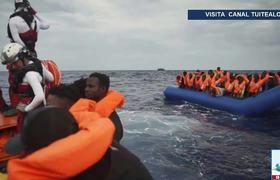 Rescatan a 50 migrantes africanos en costas de Libia