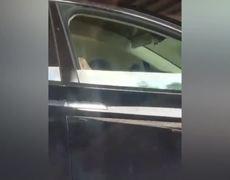 Shocking Footage Shows Pair Asleep Behind Tesla Wheel