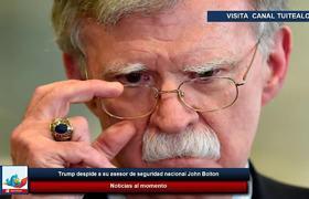 Trump despide a su asesor de seguridad nacional John Bolton