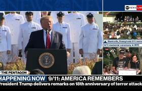 President Trump and first lady attend 9/11 memorial serviceV