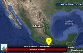 Sismo de magnitud 5.2 sacude Oaxaca Temblor