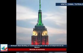 The Empire State Building is illuminated tricolor for the 'Independence Day of Mexico'