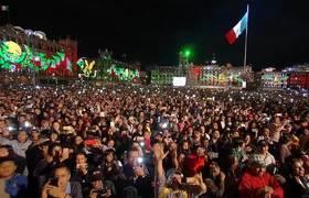 Grito de Independencia 209 Aniversario. Presidente Lopez Obrador