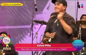 Rinden homenaje a Celso Piña en Los Pinos