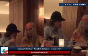 Captan a Peña Nieto y Tania Ruiz disfrazados en Nueva York