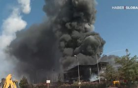 Explosion in Chemical Factory Sends Metal Container Flying