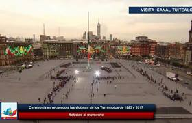 AMLO encabeza ceremonia en recuerdo a las víctimas de los Terremotos de 19-S 1985 y 2017