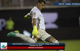 Diego Reyes abandona la final de la Leagues Cup en ambulancia tras fuerte cabezazo con Caraglio