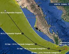 Revive huracán Lorena y amenaza Baja California Sur