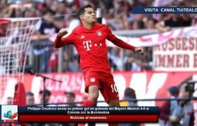 Philippe Coutinho anota su primer gol en goleada del Bayern Múnich 4-0 al Colonia por la Bundesliga