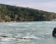 Driver Falls Asleep And Rolls Into The Sea