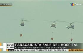 Se recupera el paracaidista accidentado en Desfile