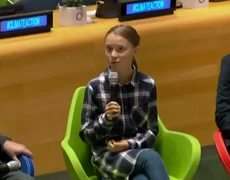 Greta Thunberg speaks at UN Youth Climate Summit