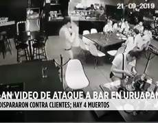#CCTV: Revelan video de ataque a bar en Uruapan