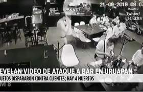 #CCTV: Revelan video de ataque a bar en Uruapan