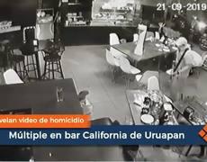 #VIDEO: Revelan video de homicidio múltiple en bar California de Uruapan