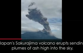 Spectacular Eruption of Japan's Sakurajima Volcano Sends Plumes of Ash High into the Sky