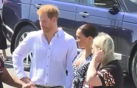 Meghan dances her way into South Africa