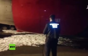 Broken plane landing leaves dozens injured in Russia