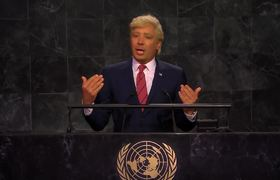 Trump Addresses Impeachment News at UN