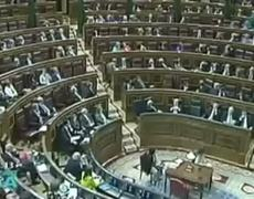 FEMEN activists protest topless at the Spanish Parliament
