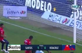 Santos 5-0 Veracruz | Jornada 11 Liga MX Apertura 2019