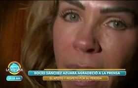 Rocío Sánchez Azuara agradeció apoyo de medios luego del fallecimiento de su hija.