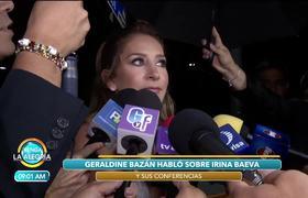 Geraldine Bazán opina de las conferencias que imparte Irina Baeva