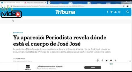 YA APARECIÓ EL CUERPO DE JOSÉ JOSÉ, PERIODISTA LO REVELA.
