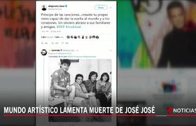 Famosos reaccionan a la muerte de José José